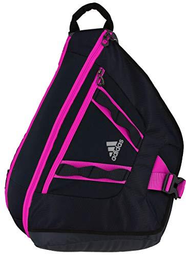adidas Unisex Capital II Sling Backpack, Black/Shock Pink, ONE SIZE