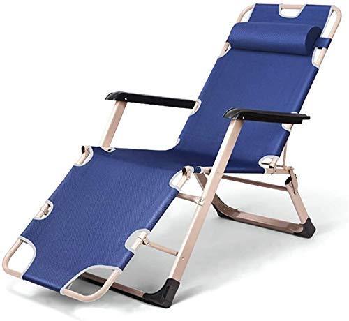 Sun Lounger Garden Chairs Patio Reclining Chairs Zero Gravity Chairs Lawn Oversize Ergonomic Lounger Chair, Patio Chaise Reclining Lounge Chair For Beach Camping sun lounger chair (Color : Blue)