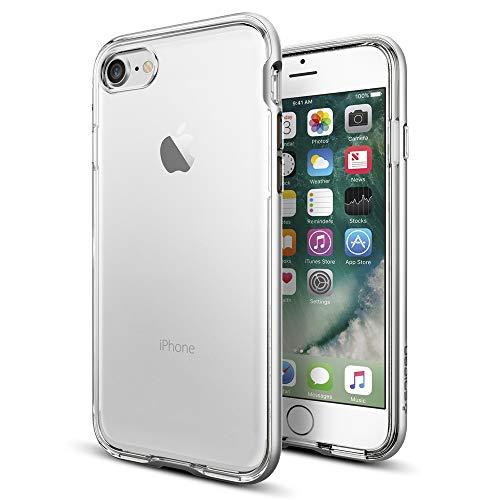 【Spigen】 iPhone7 ケース 背面クリア iPhone7 バンパー 二重構造 米軍MIL規格 耐衝撃 ネオ・ハイブリッド...