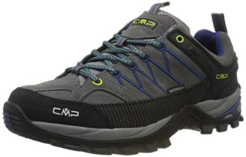 CMP Rigel Low Trekking Shoes WP, Scarpe da Arrampicata Basse Uomo, Nero (Graffite-Marine 35ud), 41 EU