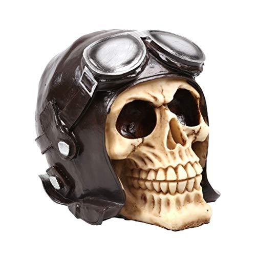 Cráneo De Calavera De Resina Punk Retro, Modelo De Calavera Humana, Adecuado para Decoración De Bares, Artesanía Antigua De Resina De Alto Grado