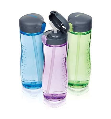 Sistema 630-2 800ml Tritan Quick Flip Bottle Blue, Plastic