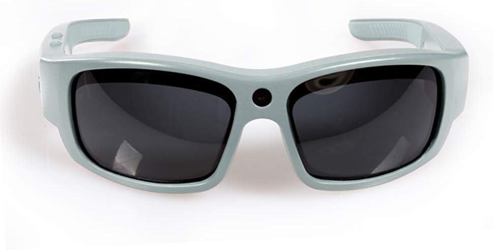 Govision Pro2 Video Camera Sunglasses 15MP 1080p Camara Glasses Wide Angle View, Unisex Design, Stylish, Waterproof and Lightweight Frame - White