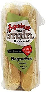 Against The Grain Gluten Free Rosemary Baguettes, 15 Ounce (Pack of 12)