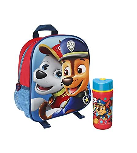 RSL Patrulla Canina Mochila escolar y botella de agua. Mochila Infantil