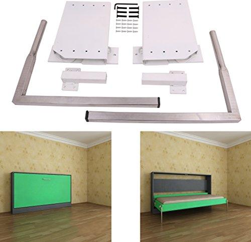 DIY Murphy Wall Bed Springs Mechanism Hardware Kit ,Horizontal Wallbed Mounting,White