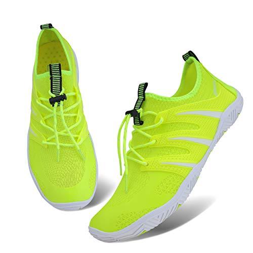 Ubang Mens Womens Water Shoes Slip-on Sports Quick Dry Barefoot for Swim Diving Surf Aqua Walking Running Shoes