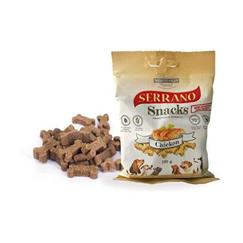 MEDITERRANEAN NATURAL Snacks Serrano Pollo para Perros ✅
