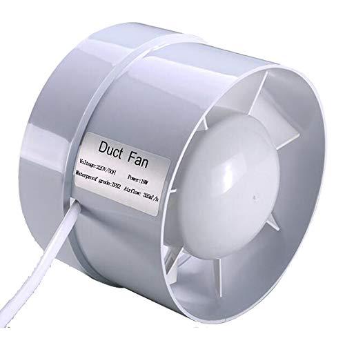 Extractor en línea con flujo mixto, 150 mm 320 m³/h 18W, Circulación de aire en respiraderos, baños, cocinas, invernaderos, carpas(6 inch)