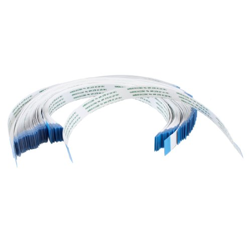 IIVVERR 100 Pcs 24 Pins AWM 20798 80C 60V VW-1 0.5mm Pitch Flexible Flat Cable FFC 250mm (100 Unids 24 Pines AWM 20798 80C 60V for VW-1 0.5mm Pitch Cable Flexible Flexible de Fitc_h 250mm
