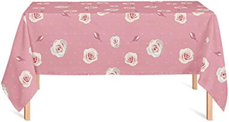 ZWL Rose Nappe, Couverture Tissu Pique-Nique Tissu Table à Manger Nappe Rétro Creative Nappe Café Boutique Restaurant Gateau Nappe Rose Nappe 85-240cm , Ajoutez de la vitalité à la cuisine ( taille   140200cm )