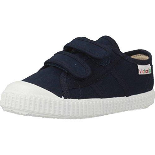 Victoria Basket Lona Dos Velcros, Zapatillas Unisex niños, Bleu 30 Marino, 18 EU