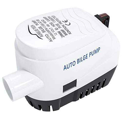 AURELIO TECH 12V 1100GPH Automatic Submersible Bilge Pump for Boats with Float Switch