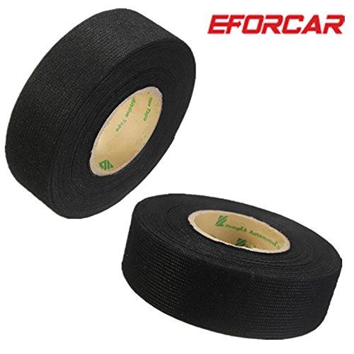 ETGtek(TM) 2pcs Verdrahtung Harness Tape Hitzebeständige Klebe Tuch Stoff Tape Kabel Webstühle für Auto Motorrad