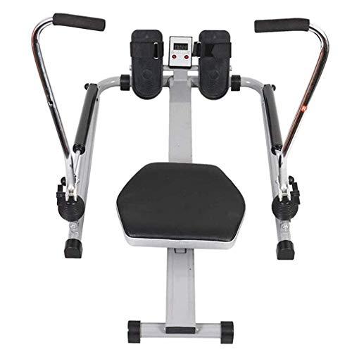 WJSW Leises Rudergerät für zu Hause, Rudergerät für den Innenbereich mit Digitalanzeige, rotierendes Rudergerät für Fitnessübungen zum Strecken von Armen und Beinen,