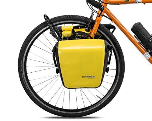 ROCKBROS Gepäckträgertasche 100{69505a4be0e09c54c2f52d1d7093de54a2a67a708f0cb8e38b112f1c3895a14a} wasserdichte Hinterradtasche Satteltasche für Gepäckträger Vorne/Hinten Fahrradtasche 12-16L