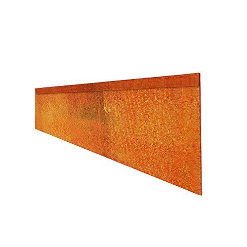 Firend Rasenkante 1,0mm 15, 18cm Corten Stahl Edelrost Mähkante Beeteinfassung Umrandung Metall Magic Rasen CF (20, 18)