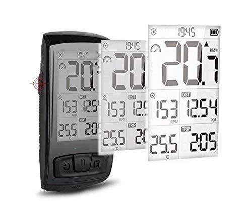 LINGJIA Cycling Speedometer Wireless Bicycle Speedometer Enabled Waterproof Stopwatch Bike Bicycle Computer Speedometer Heart Rate Monitor Cadence Speed