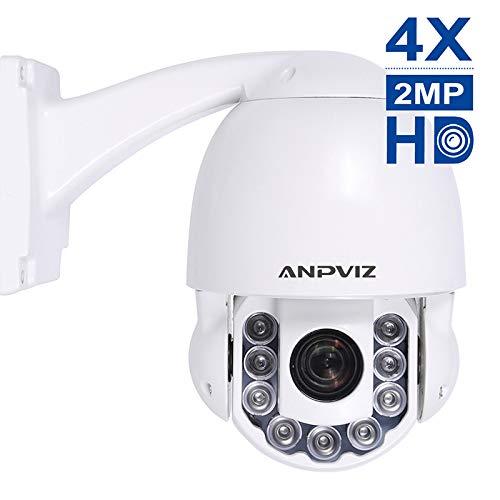 Telecamera dome IP PTZ, Zoom ottico Pan Tilt 4X HD da 2 MP, obiettivo 2.8~12mm, visione notturna 190ft/50m, messa a fuoco automatica, rilevamento movimento, telecamera IP dome dome IP67