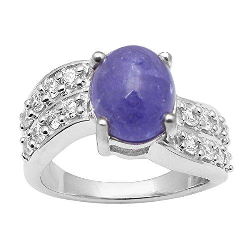 Shine Jewel Piedra preciosa con vástago de onda de plata de ley 925, anillo de diseño de derivación para mujer