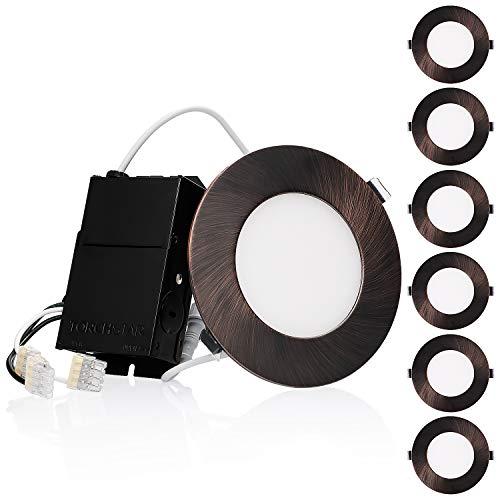 TORCHSTAR Premium 10.5W 4-Inch Ultra-Thin LED Recessed Light