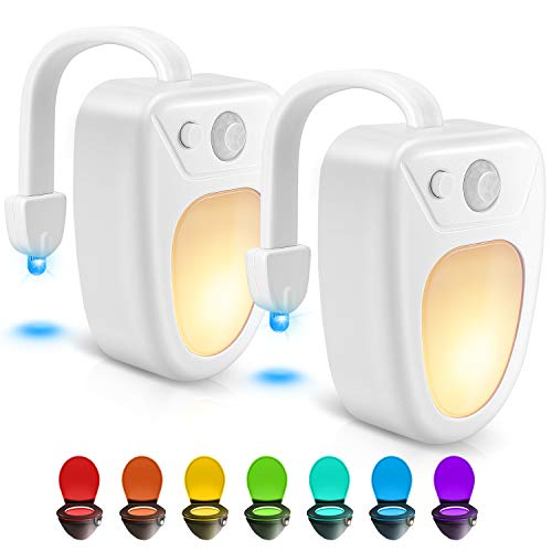 Toilet Light Toilet Bowl Light Toilet Night Light Motion Activated Toilet Led Light for Bathroom 2 Packs