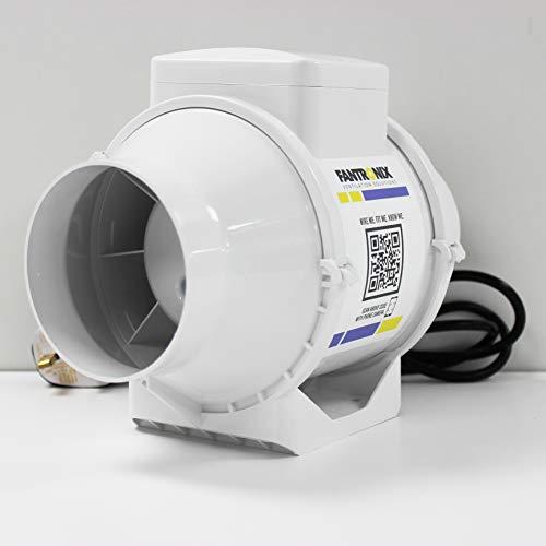 Abluftventilator für Kohlefilter, 125 mm