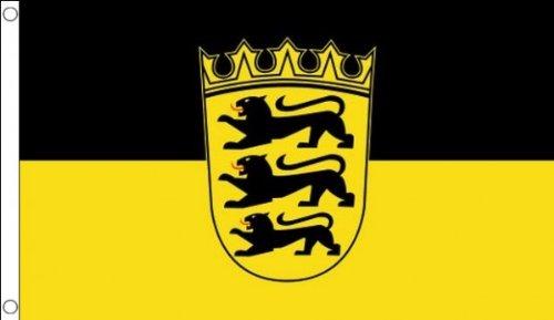 AZ FLAG Flagge Baden-WÜRTTEMBERG 150x90cm - Baden-WÜRTTEMBERG Fahne 90 x 150 cm - flaggen Top Qualität