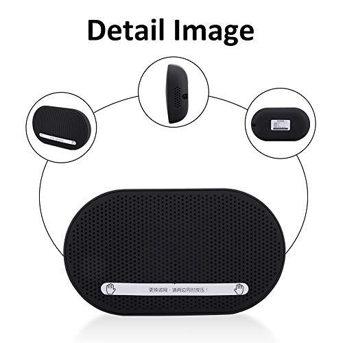 Luchtreiniger, Ultradunne luchtreiniger, Auto-luchtreiniger, Formaldehyde Stink Remover voor Car Home Office met USB-poort, veilig en niet-giftig, hittebestendig en duurzaam(Zwart)
