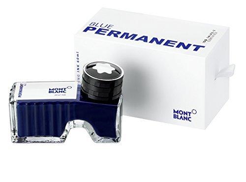 Montblanc 107756 - Flacone d'inchiostro Permanent blue (blue indelebile) – Ink di alta qualità in boccetta per penna stilografica, 60 ml