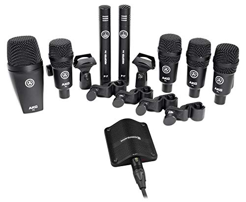 drum overhead mics AKG Drum Set Session I (7) Microphone Kit w/Bass/Overhead/Snare/Tom+Boundary Mic