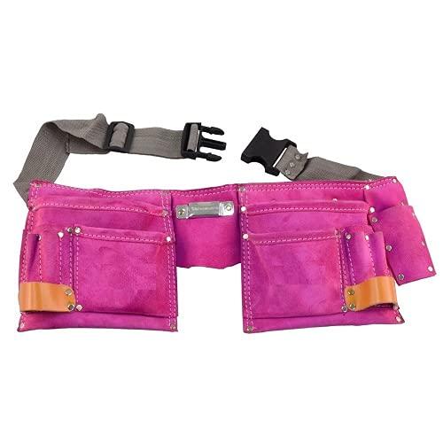 Rolson 68630 - Cintura porta utensili in cuoio doppia, colore: Rosa
