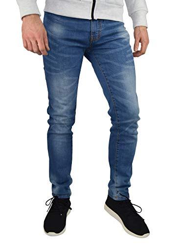 westAce Mens Slim Fit Stretch Jeans Comfy Fashionable Super Flex Denim Pants (36W x 30L, Light Blue)