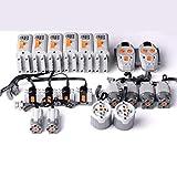 Lommer Technik Power Functions Set für Technic Autos, 4 L 2 XL 2 M Motoren 2 Fernbedienungen 4 Empfänger 6 Batteriefach, Kompatibel mit Lego Technics