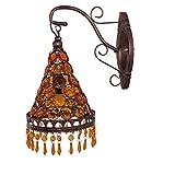 GDLight Luz a la Pared turca marroquí lámpara de Pared de la cabecera de América Rural Apliques de la Pared de la Vendimia del Estilo tailandés de Habitación Sala Pasillo Cafe, E14,C