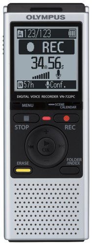 OM Digital Solutions VN-722PC Voice Recorders, 4 GB Built-In-Memory