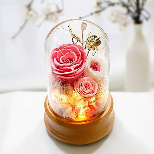 Iyom Music Box, Glittery Kids Rose kunstbloem muziekdoos met Bluetooth functie, ambachten beste geschenken voor Kerstmis, Valentijnsdag, Verjaardag