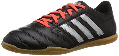 adidas Gloro 16.2 IN, Botas de fútbol para Hombre, (Core Black/Silver Metalic/Solar Red), 42 EU