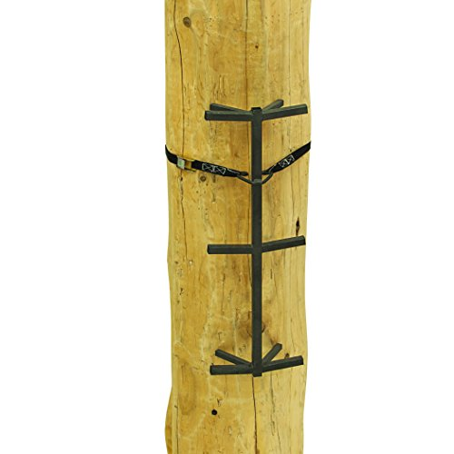 """Rivers Edge RE719, Big Foot Grip Stick (3-Pack) Tree Stand Climbing System, 32"""" Sections, Double Step Design, Permanent Non-Slip Coating , Black"""