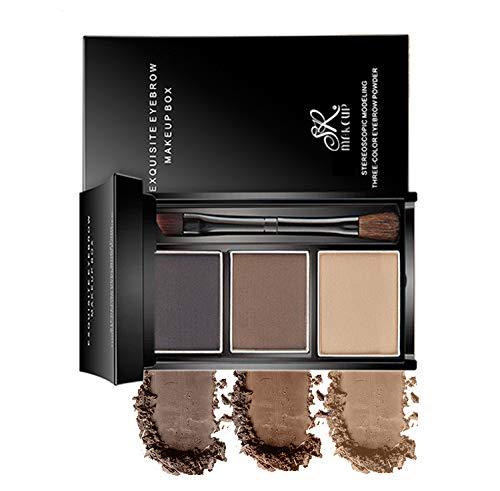 Makeup powder eyebrow powder 3-color eyebrow set-eyebrow color palette-beauty cosmetic eyebrow pencil for nose shadow-professional makeup eyebrow filler