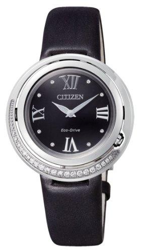 Citizen EX1120-02E - Reloj de Cuarzo para Mujer, con Correa de 0, Color Negro