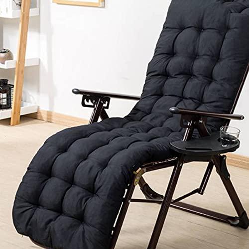 Cuscino per sedia a sdraio, in cotone perlato sabbiato, imbottitura di ricambio, per sgabelli in vimini, sedia a dondolo, sedia da ufficio e giardino (stile2,160 x 50 x 8 cm)
