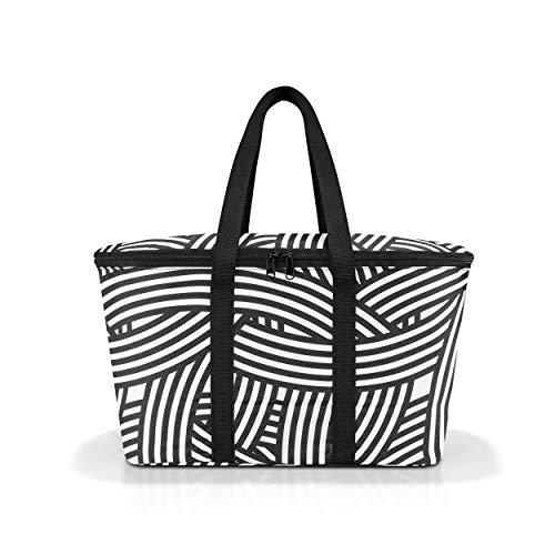 reisenthel coolerbag, Kühltasche, Isolierte Tasche, Picknicktasche, Thermotasche, Polyestergewebe, Zebra, 20 L, UH1032