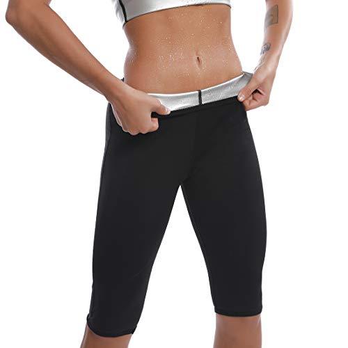 Pantaloni di Perdita di Peso Pantaloni Sauna Donne Yoga Fitness Leggings Dimagranti da Donna Pantaloni Termici per Sudorazione Hot Shaper Dimagrante Sudore (Stile 1, L)