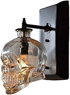 GYYlucky Retro Loft Skull Bones Wall Light sconces Clear Glass Bottle Wall Lights for Dining Room Bar Industrial Home Wall lamp Glass Lantern 1 Light G9 Edison Wall lamp Wall lamp Wall Lighting Lamps