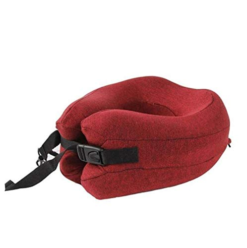 Memoria de espuma de viaje Cuello de almohada Cabeza de almohada Corbata de apoyo Aeroplano Avión Almohada Almohada de oficina Durmiente Viaje Cojín de reposacabezas (Color : Red, Size : 40x28cm)
