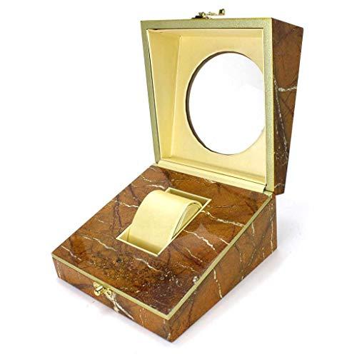 WNDRZ Caja De Reloj De Cuero Cajas De Almacenamiento De Reloj para Hombres Negros Estuche con Ventana Joyas Estuche De Regalo para Mujeres Exhibición De Moda Soporte De Regalo para Joyería