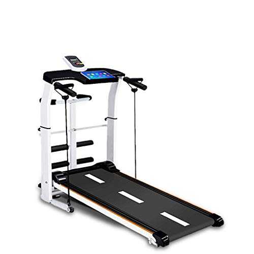 Wotryit Folding Shock Treadmill for Home (Non-Electric),240lbs Weight Capacity Silent Shock absorptionTreadmill for Running Supine Twisting, Draw Rope 4-in-1 Mechanical Mini Walking Machine