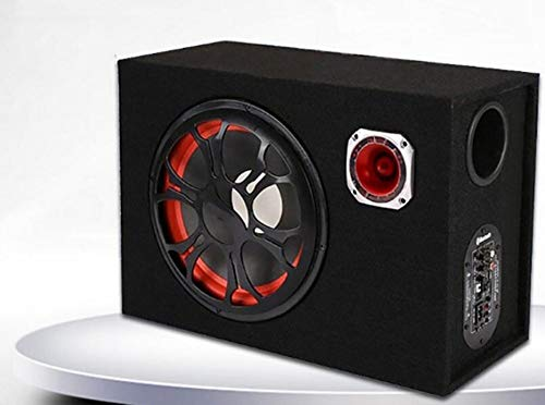 LALAWO Laute Lautstärke, 6-Zoll-12V 24V 220V quadratisches Bluetooth-Lautsprecher-Subwoofer-Motorradhaus/Auto/Computer Gute Klangqualität