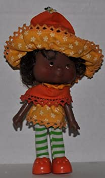 Vintage Orange Blossom  1981   Doll Hat Dress Tights Shoes  - Strawberry Shortcake  Retired  Doll - Collectible Replacement Toy - Loose  OOP Out of Package & Print